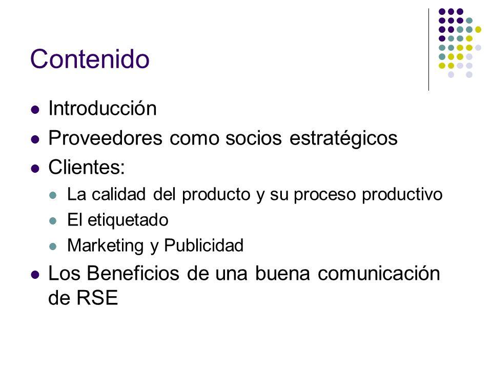 Contenido Introducción Proveedores como socios estratégicos Clientes: