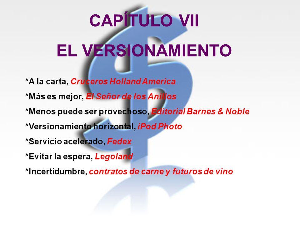 CAPÍTULO VII EL VERSIONAMIENTO
