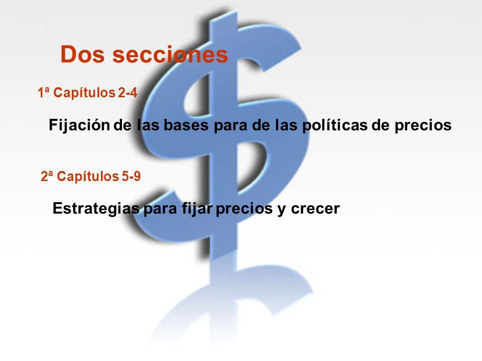 Dos secciones Fijación de las bases para de las políticas de precios