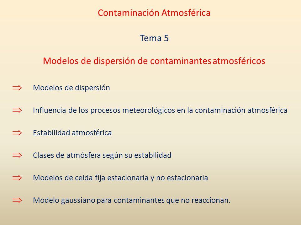 Contaminación Atmosférica Tema 5