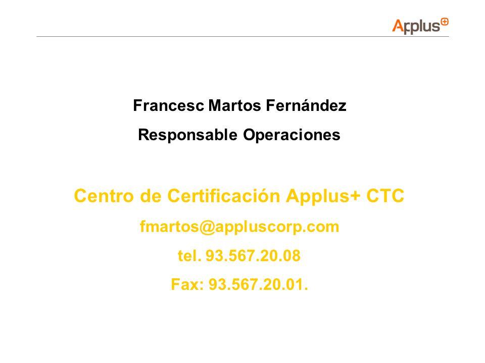 Centro de Certificación Applus+ CTC