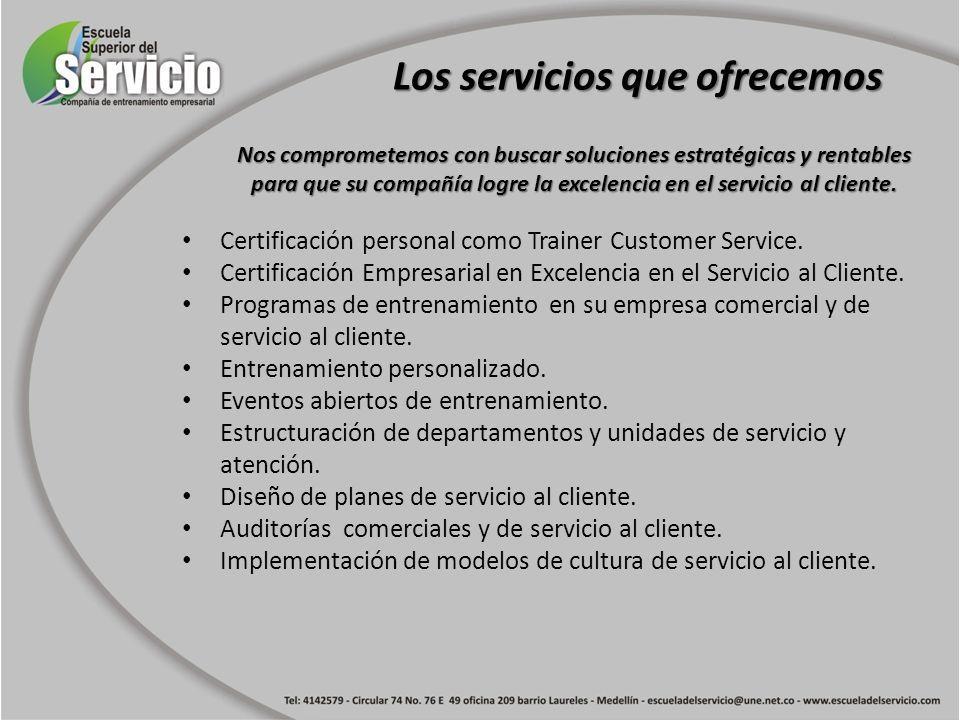 Los servicios que ofrecemos