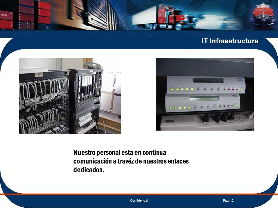 IT Infraestructura Nuestro personal esta en continua comunicación a travéz de nuestros enlaces dedicados.