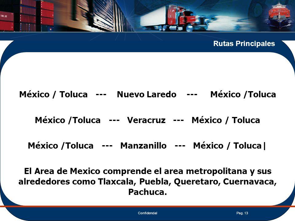 México / Toluca --- Nuevo Laredo --- México /Toluca