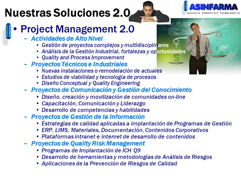 Nuestras Soluciones 2.0 Project Management 2.0