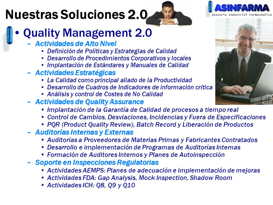 Nuestras Soluciones 2.0 Quality Management 2.0