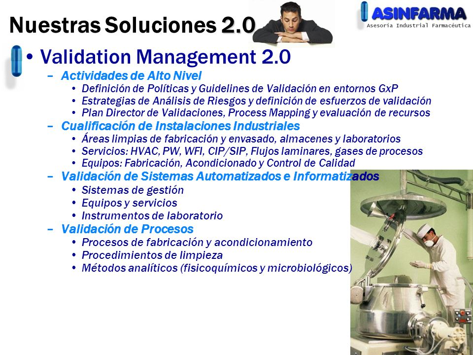 Nuestras Soluciones 2.0 Validation Management 2.0