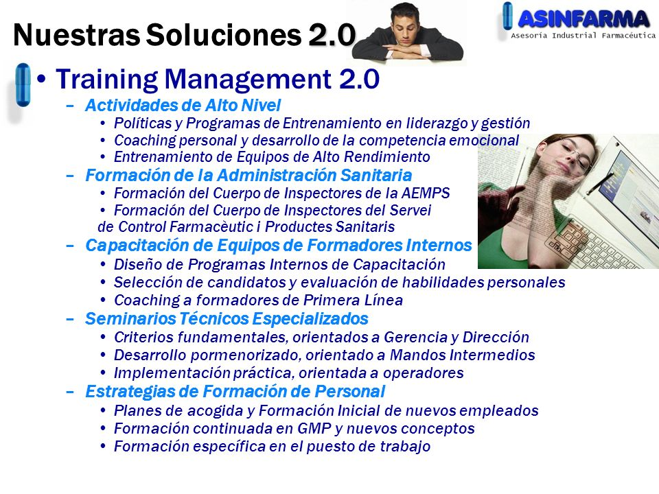 Nuestras Soluciones 2.0 Training Management 2.0