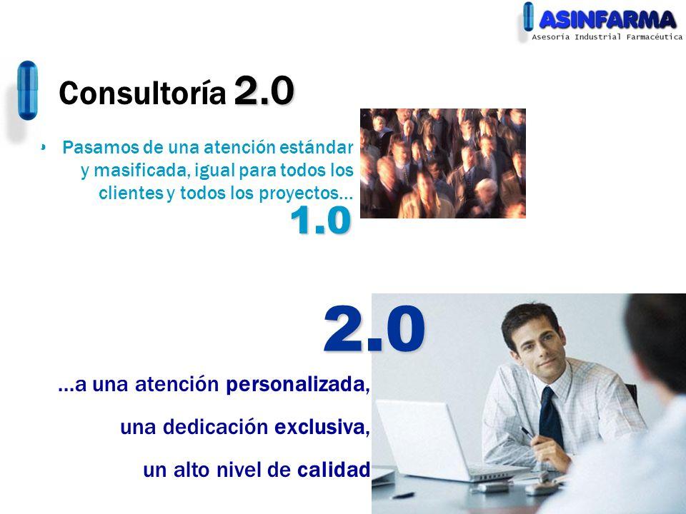 2.0 1.0 Consultoría 2.0 ...a una atención personalizada,