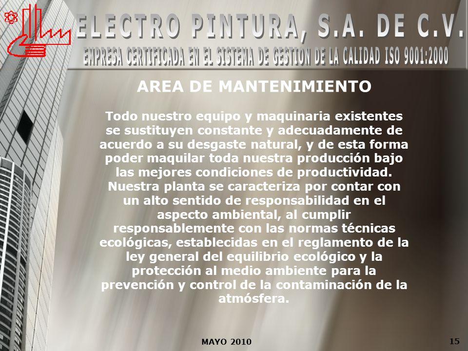 ELECTRO PINTURA, S.A. DE C.V.