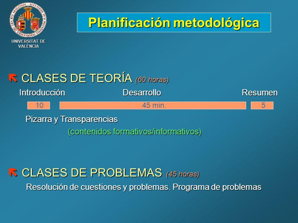 Planificación metodológica