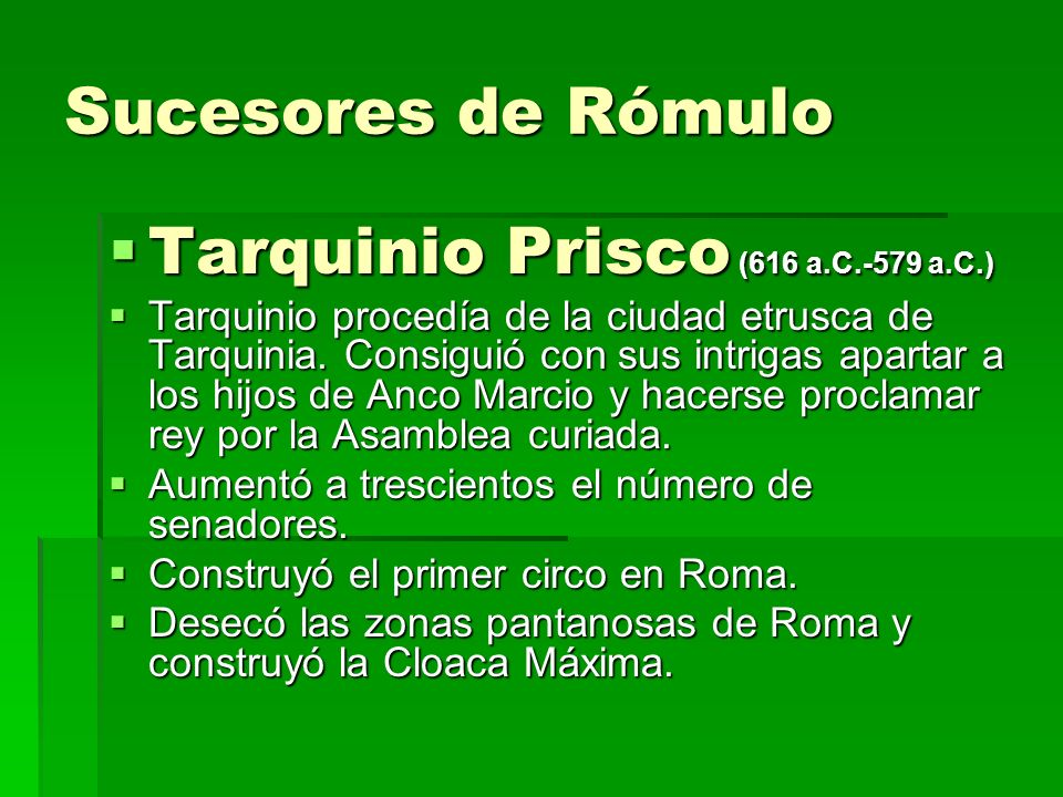 Tarquinio Prisco (616 a.C.-579 a.C.)