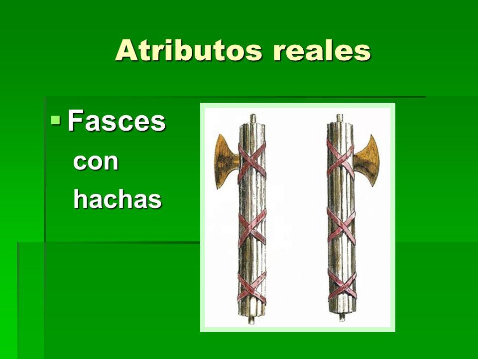 Atributos reales Fasces con hachas
