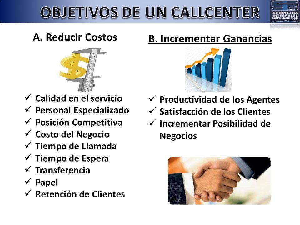 OBJETIVOS DE UN CALLCENTER