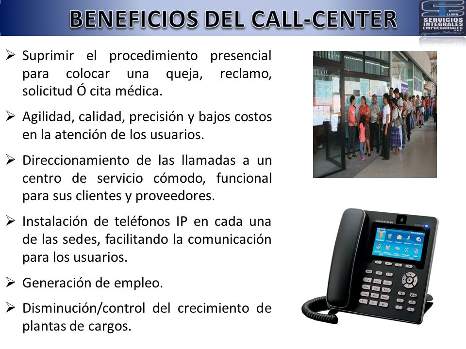 BENEFICIOS DEL CALL-CENTER