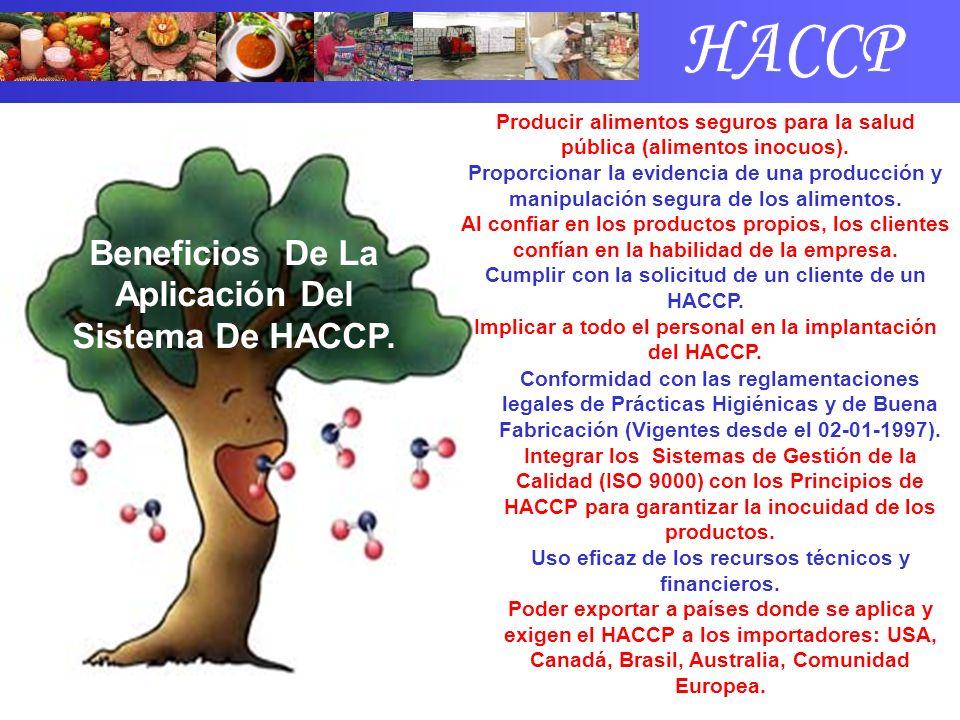 HACCP Beneficios De La Aplicación Del Sistema De HACCP.