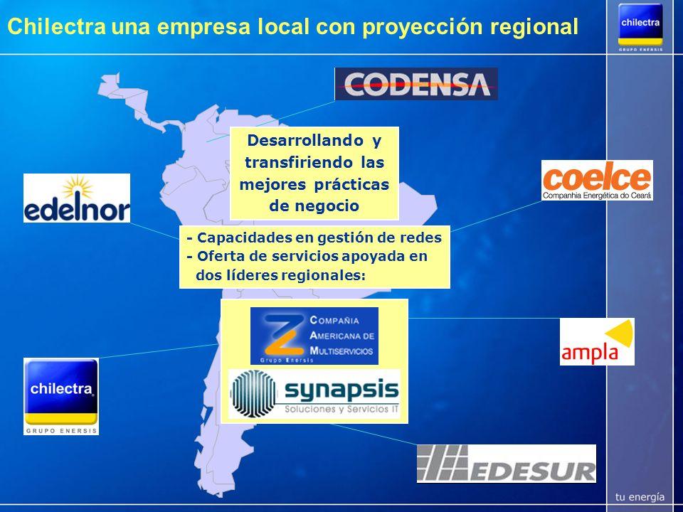 Chilectra una empresa local con proyección regional