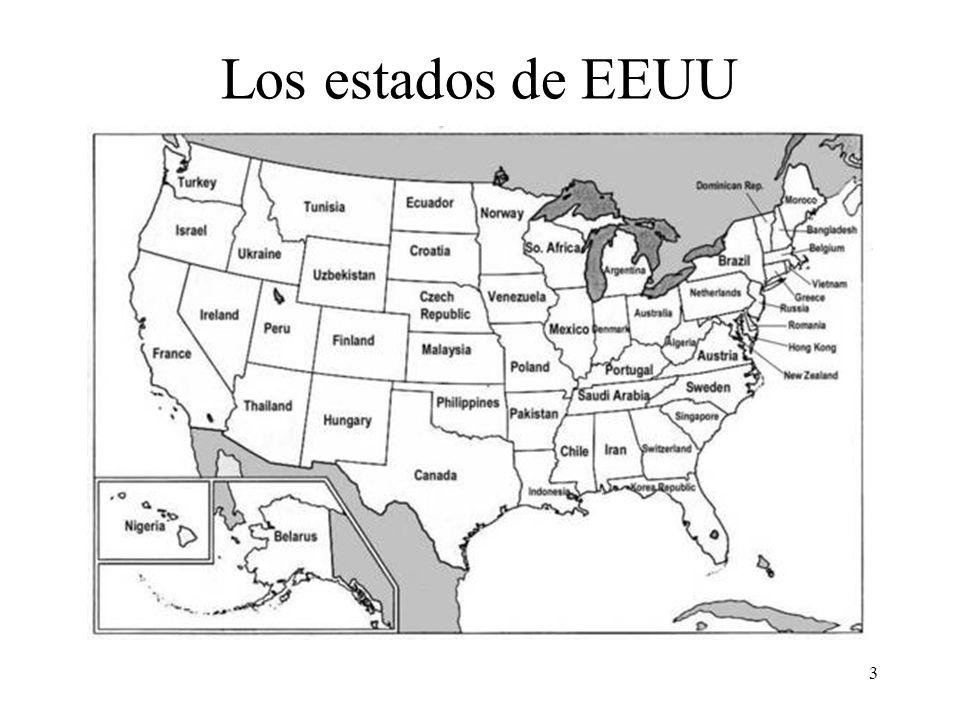 Los estados de EEUU