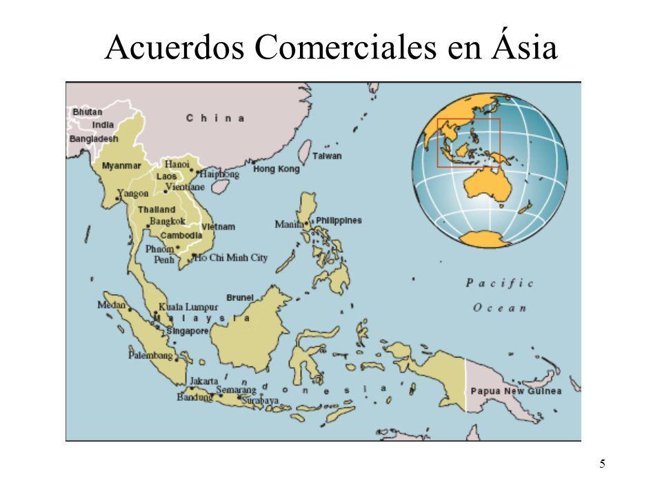 Acuerdos Comerciales en Ásia