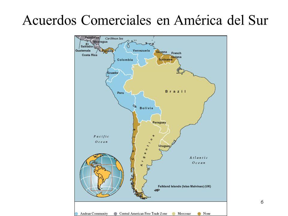 Acuerdos Comerciales en América del Sur