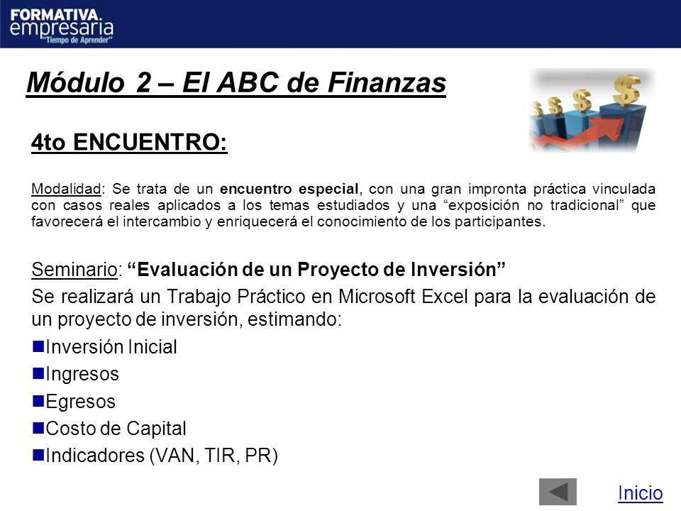 Módulo 2 – El ABC de Finanzas