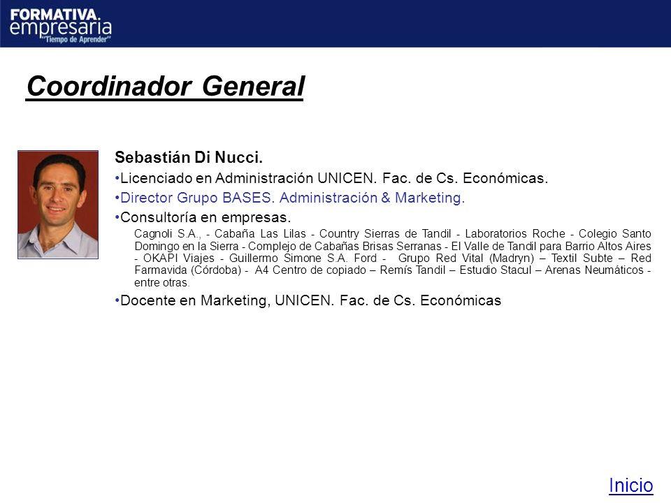Coordinador General Inicio Sebastián Di Nucci.