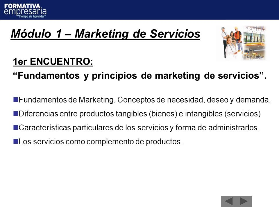 Módulo 1 – Marketing de Servicios