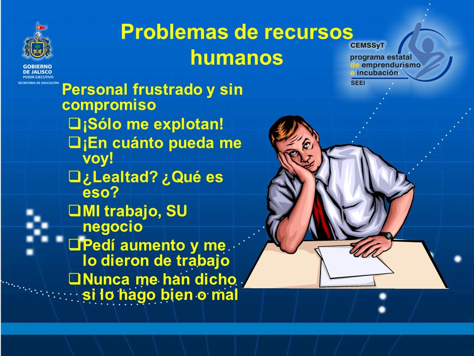 Problemas de recursos humanos