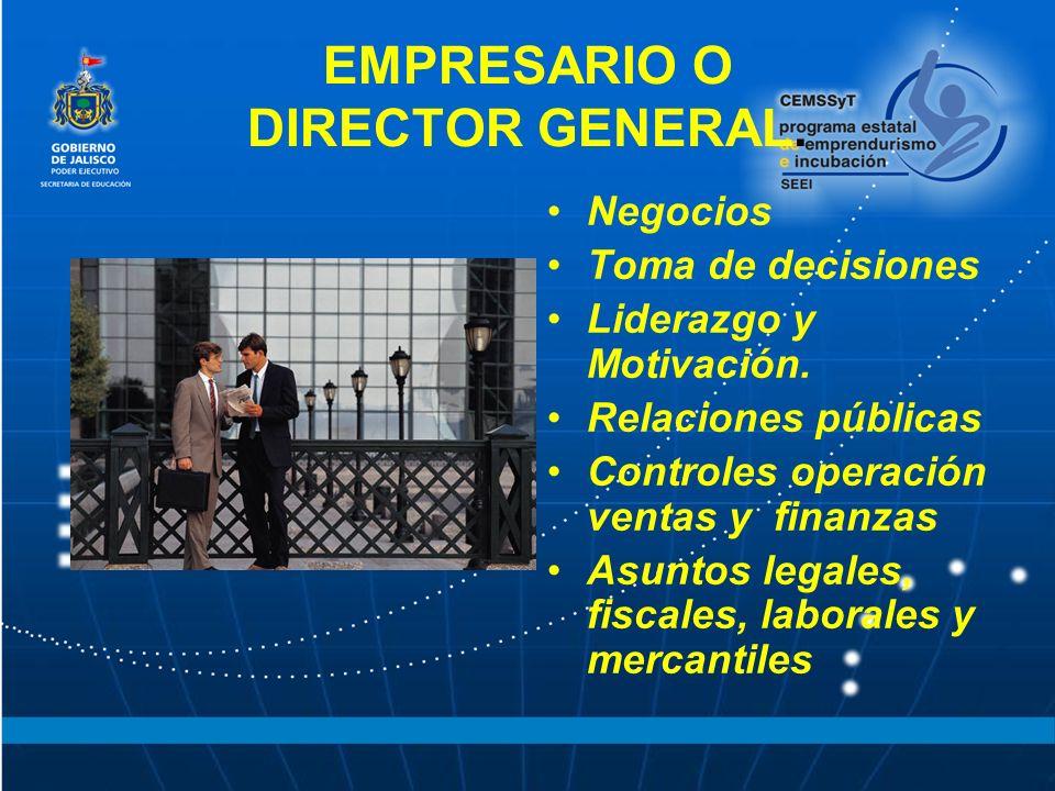 EMPRESARIO O DIRECTOR GENERAL.