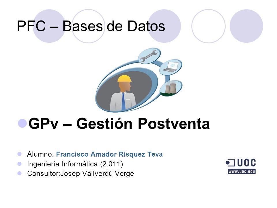 GPv – Gestión Postventa