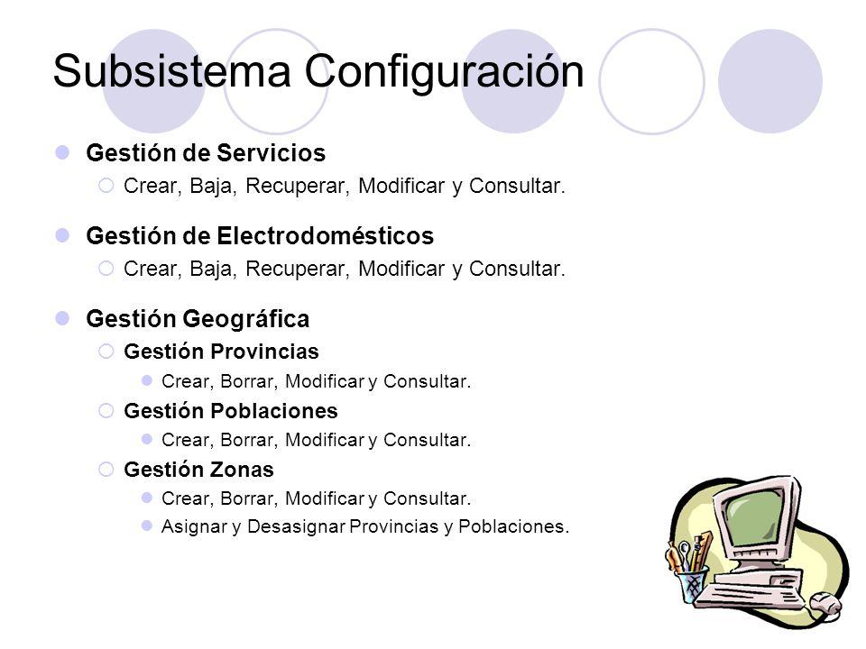 Subsistema Configuración