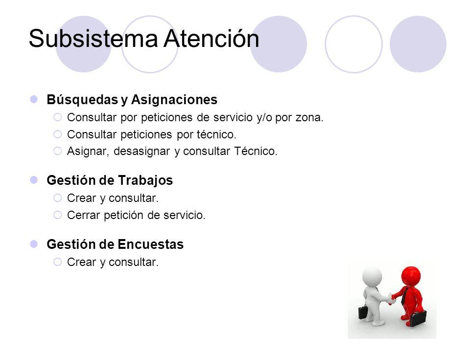 Subsistema Atención Búsquedas y Asignaciones Gestión de Trabajos