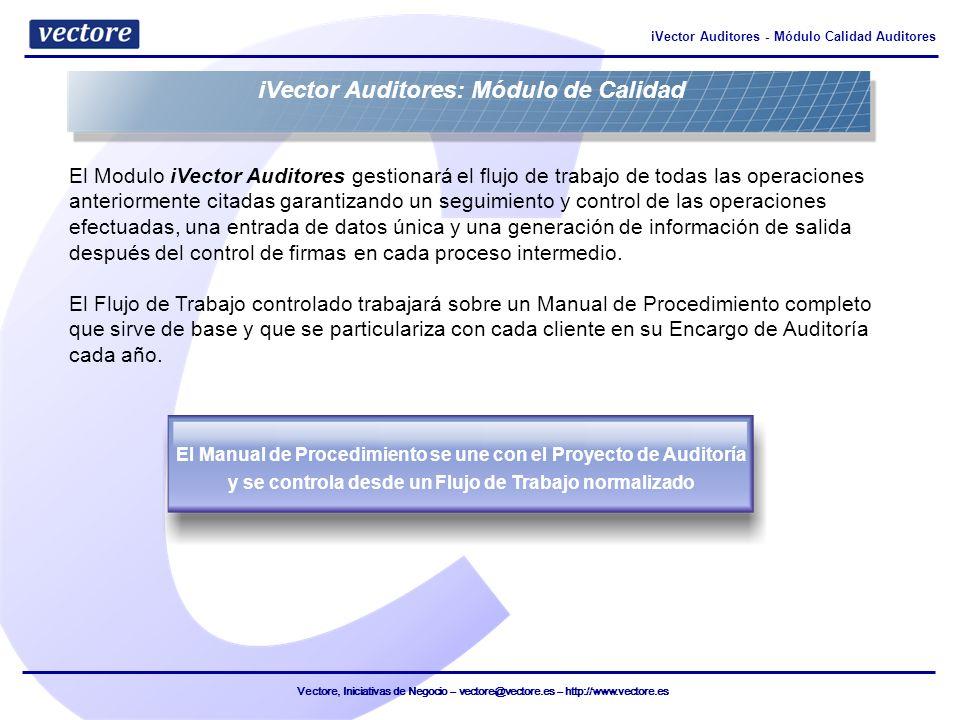iVector Auditores: Módulo de Calidad