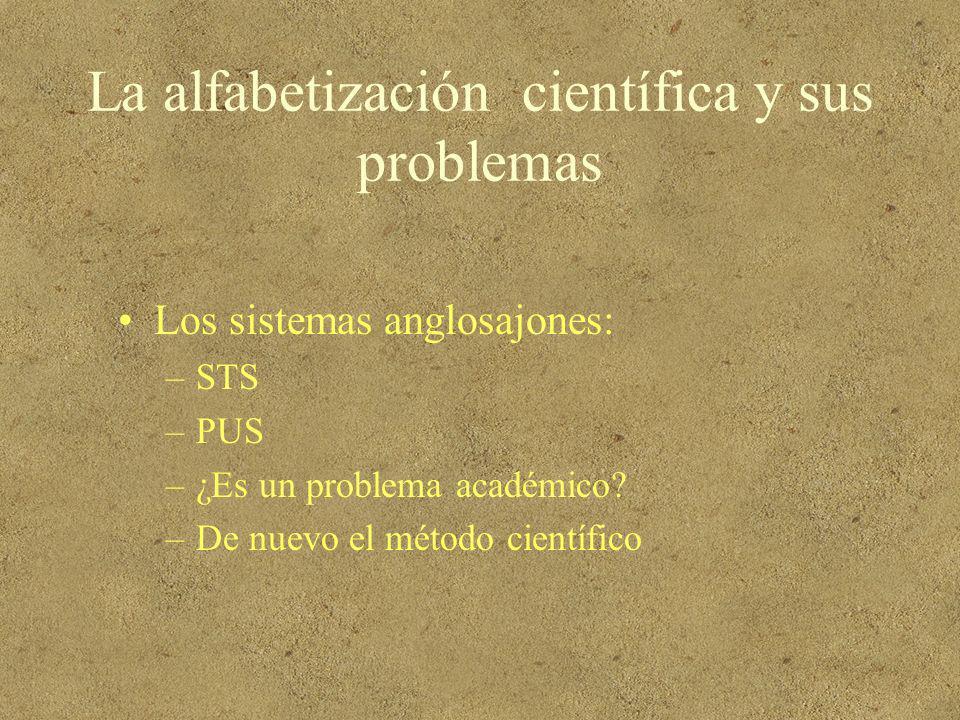 La alfabetización científica y sus problemas