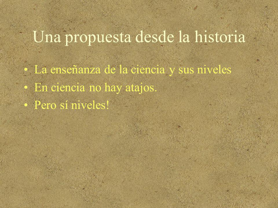 Una propuesta desde la historia