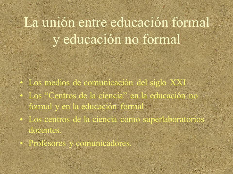 La unión entre educación formal y educación no formal