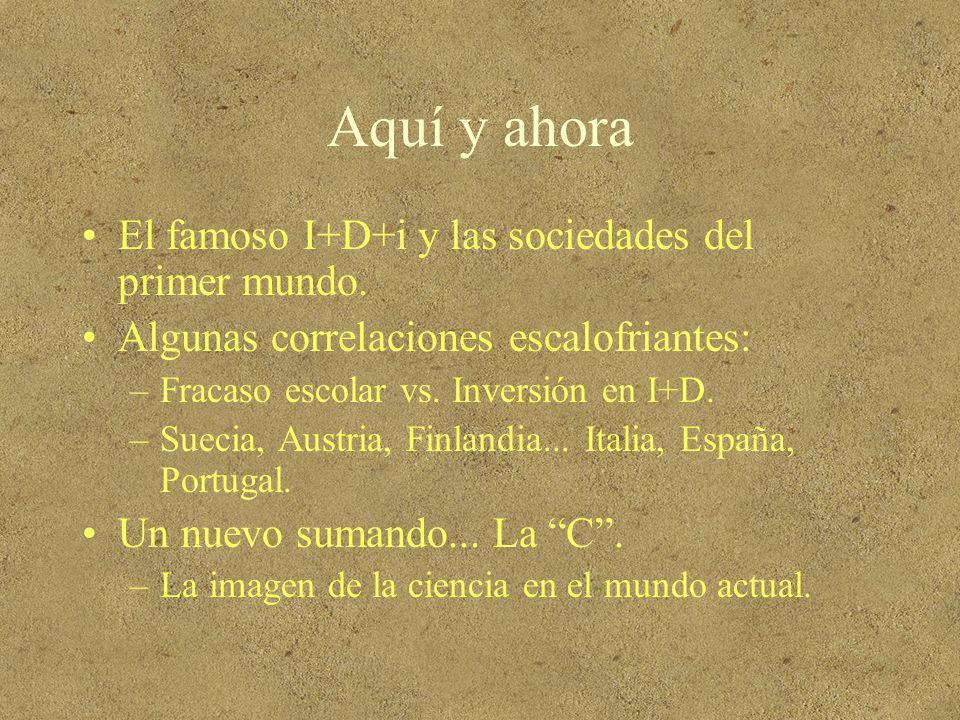 Aquí y ahora El famoso I+D+i y las sociedades del primer mundo.