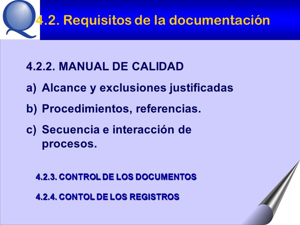 4.2. Requisitos de la documentación
