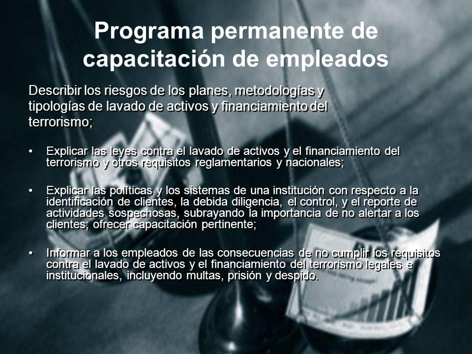 Programa permanente de capacitación de empleados