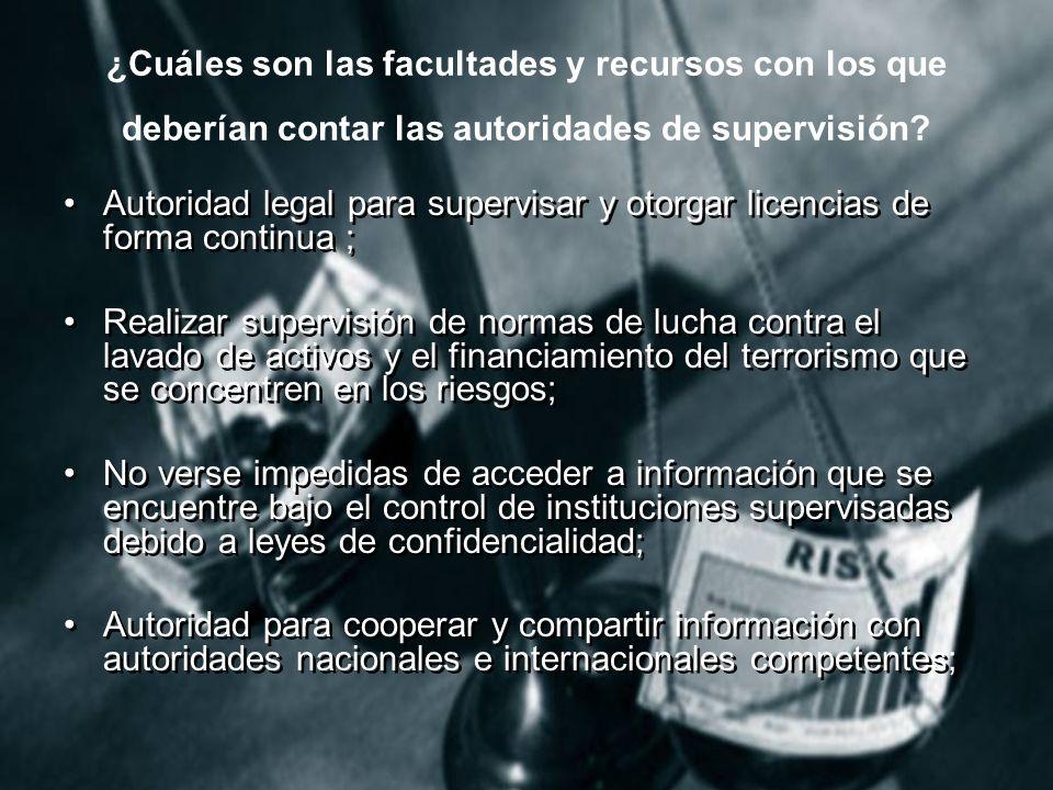 ¿Cuáles son las facultades y recursos con los que deberían contar las autoridades de supervisión