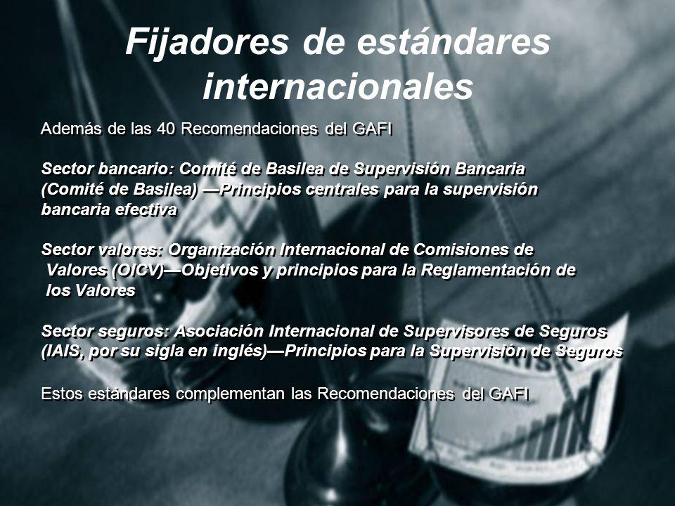 Fijadores de estándares internacionales