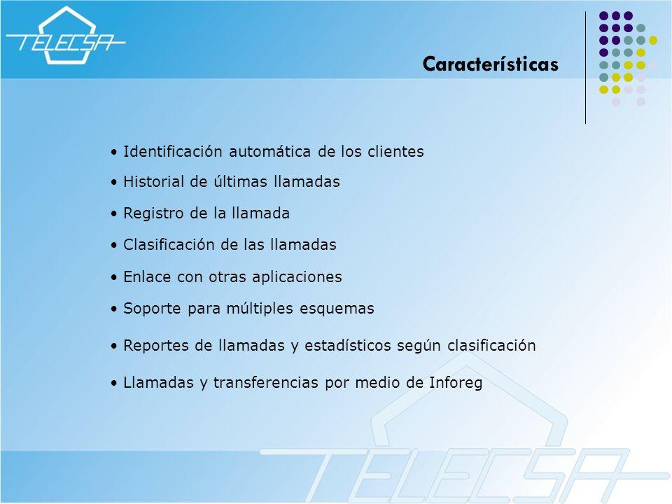 Características Identificación automática de los clientes