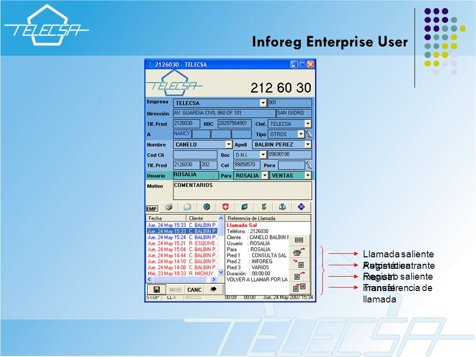 Inforeg Enterprise User
