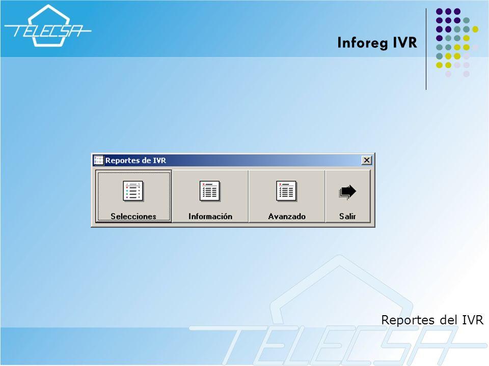 Inforeg IVR Reportes del IVR