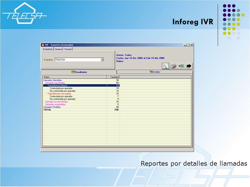 Inforeg IVR Reportes por detalles de llamadas