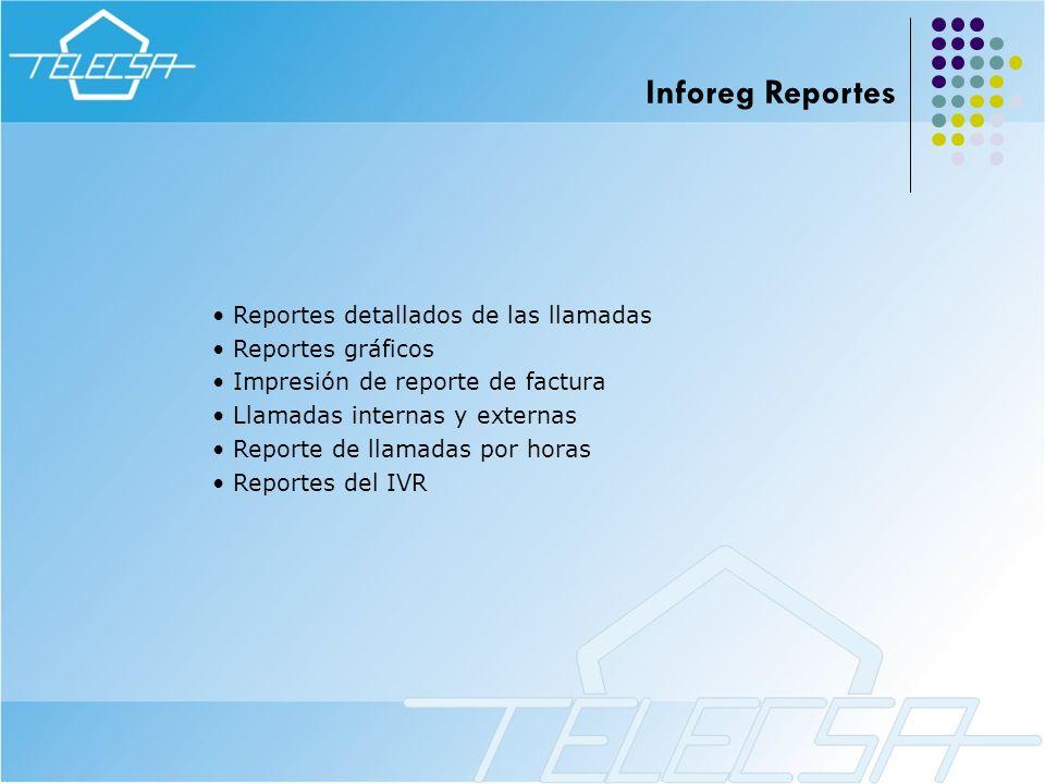Inforeg Reportes Reportes detallados de las llamadas Reportes gráficos