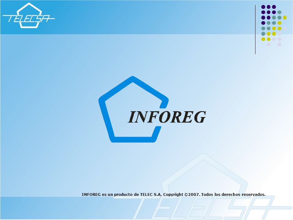 INFOREG es un producto de TELEC S. A. Copyright ©2007