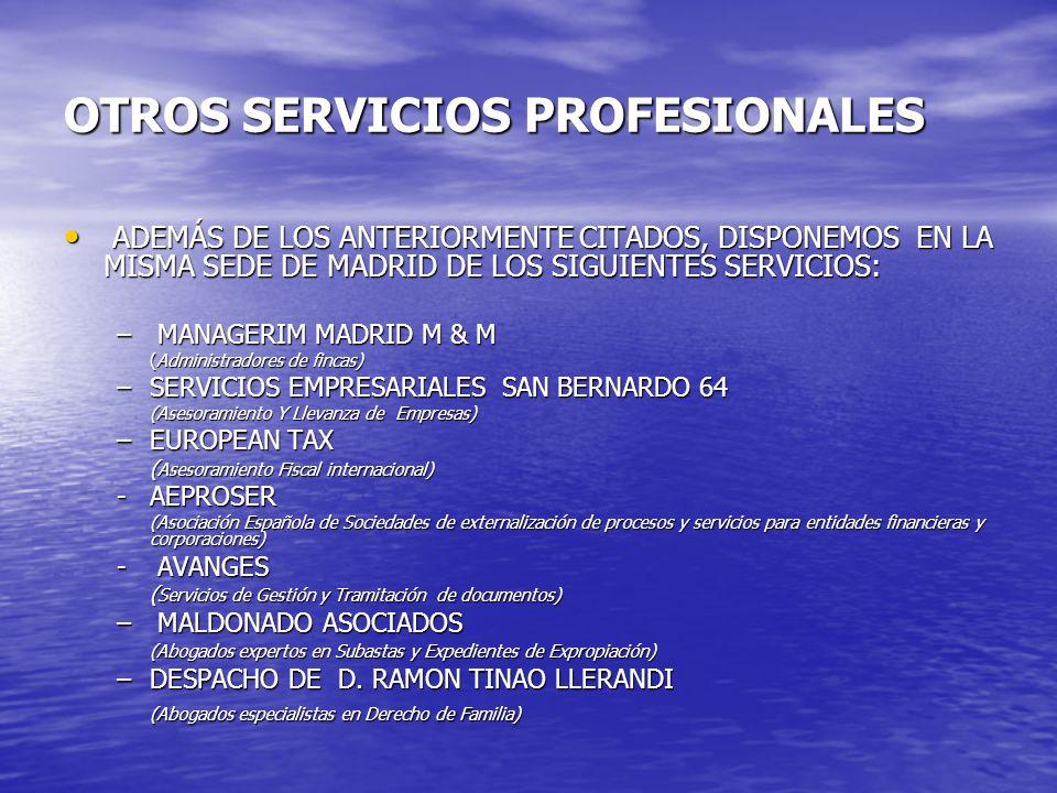 OTROS SERVICIOS PROFESIONALES