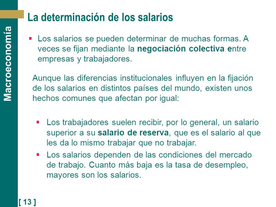 La determinación de los salarios