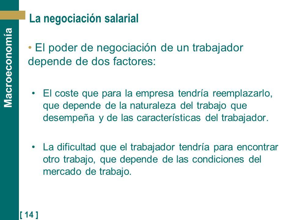 La negociación salarial